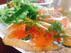 Gravlox Tartine from The Coronet - Tucson Foodie