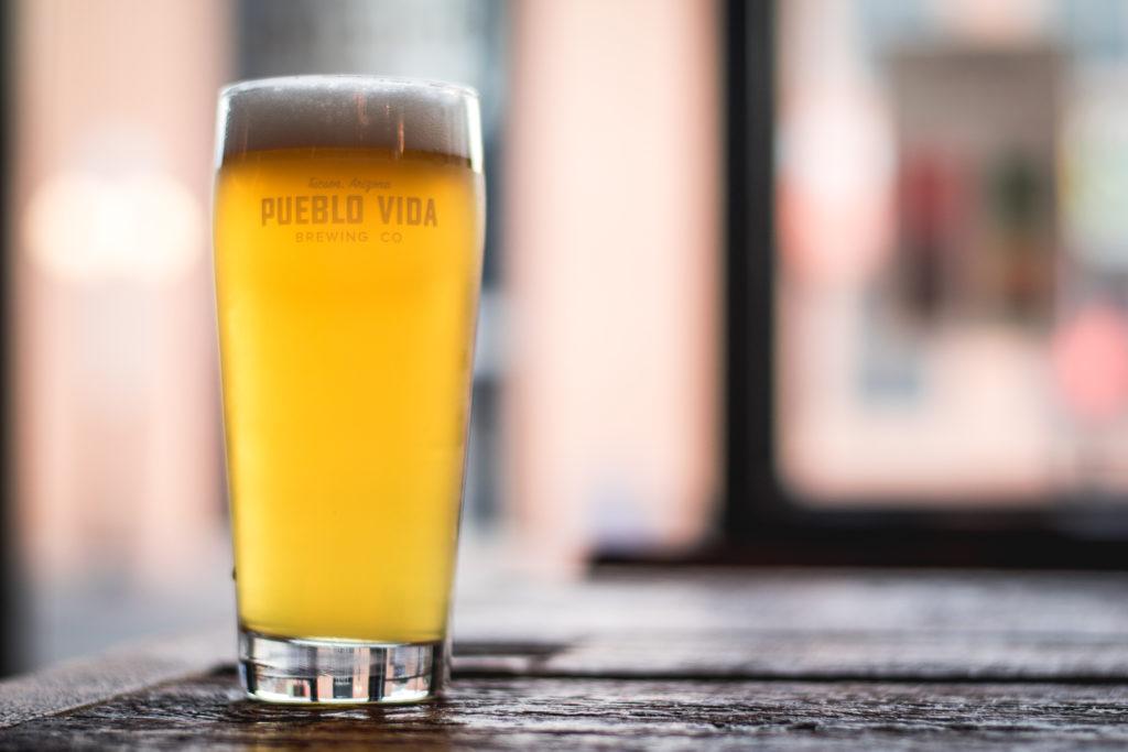 Nacho Stadt Bier Pilsner infusion at Pueblo Vida Brewing Co. (Credit: Jackie Tran)