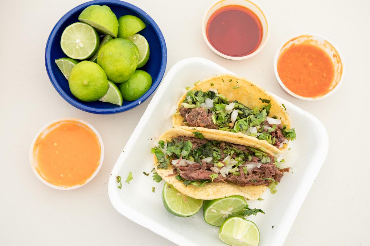 Tacos de Cabeza (Credit: Shana Rose)