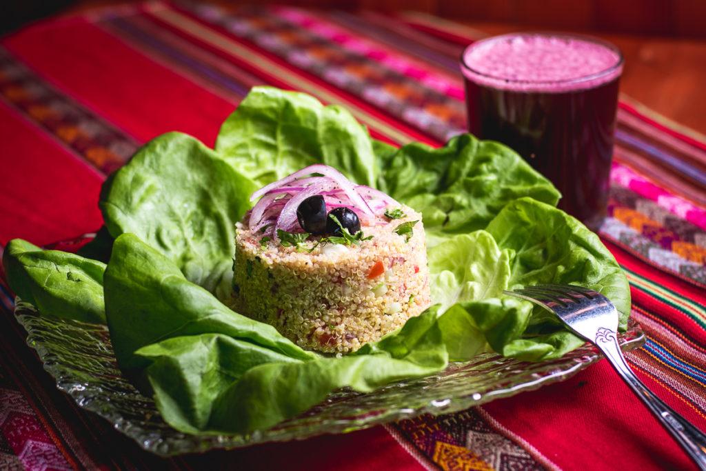 Ensalada de Quinoa at Inca's Peruvian Cuisine (Credit: Jackie Tran)