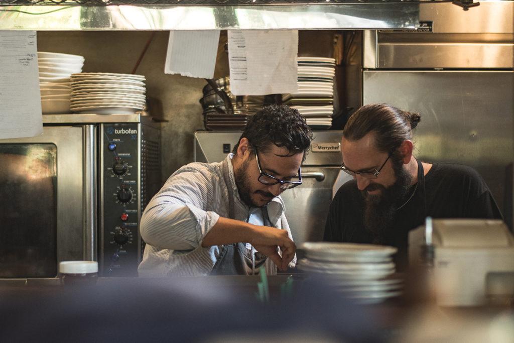 Executive chef Moody Elbarasi and chef de cuisine Chris McClain at the Coronet (Credit: Jackie Tran)
