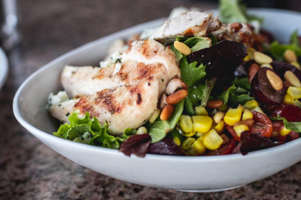 Half-portion of the Gorgonzola Chicken Salad at Harvest Oro Valley (Credit: Jackie Tran)