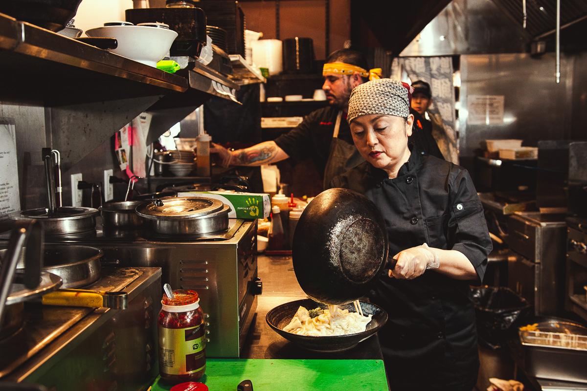 Yoshimi Tashima at Yoshimatsu Japanese Eatery (Credit: Jackie Tran)