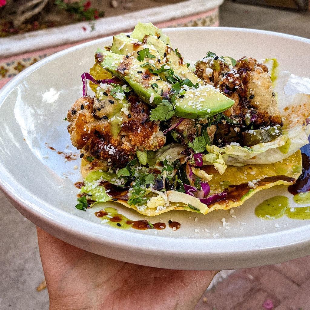 Jackie Tran's Korean Cauliflower Tacos at El Torero